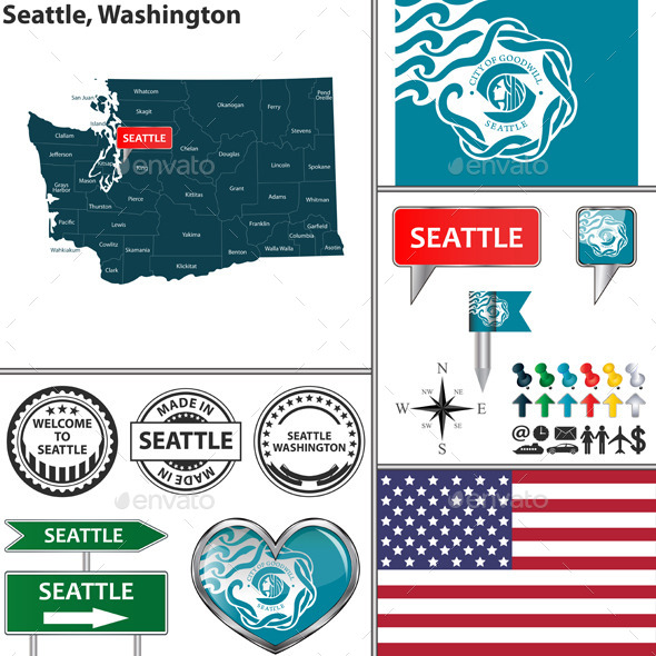 GraphicRiver Seattle Washington 11904379