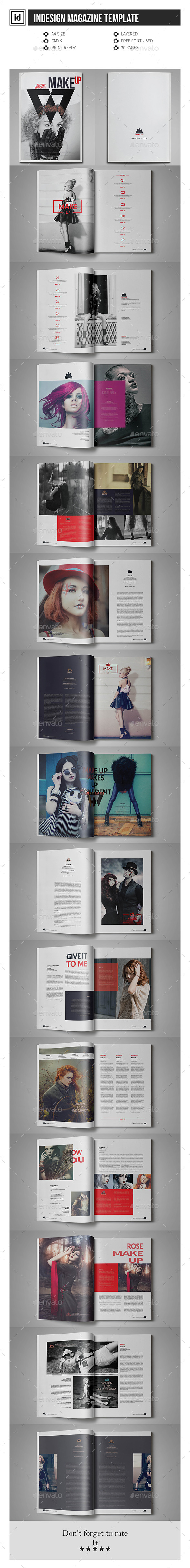 GraphicRiver Multipurpose InDesign Magazine Template 11904395