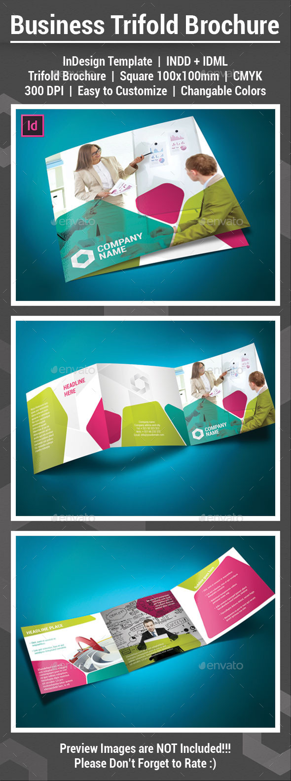 GraphicRiver Square Trifold Brochure 11904434