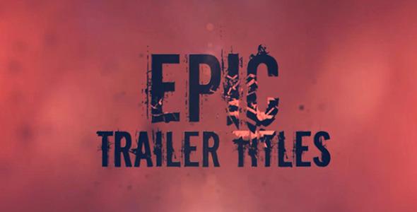 Epic Trailer Titles 11904441 - Videohive shareDAE