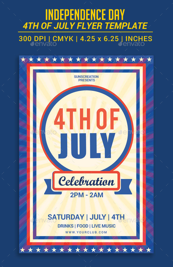 GraphicRiver 4th Of July Flyer template 11904600