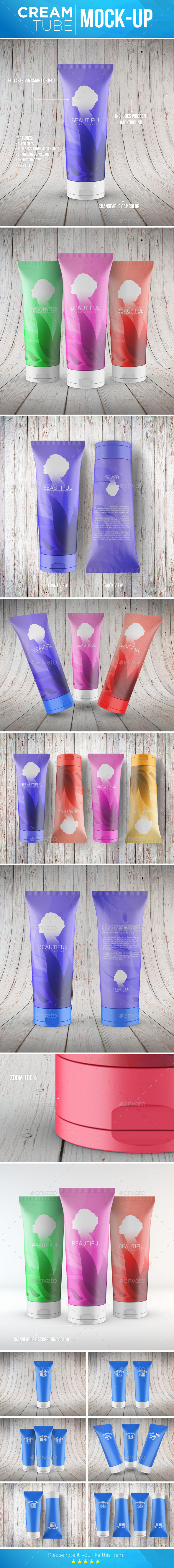 GraphicRiver Cream Tube Mock-Up 11904670