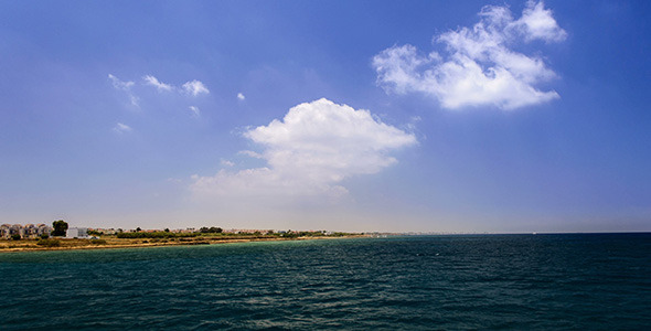 Cruise Travel On The Sea Near Shore