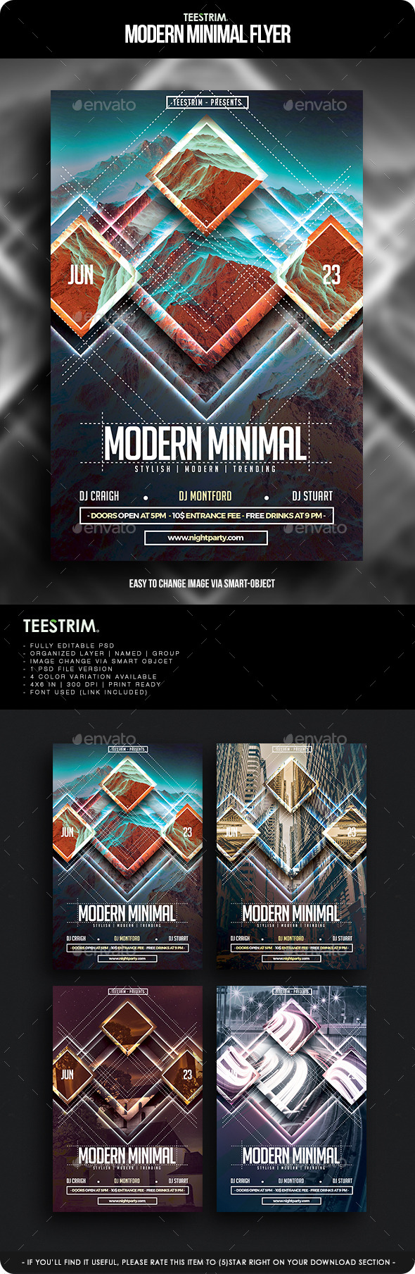 GraphicRiver Modern Minimal Flyer Template 11904908
