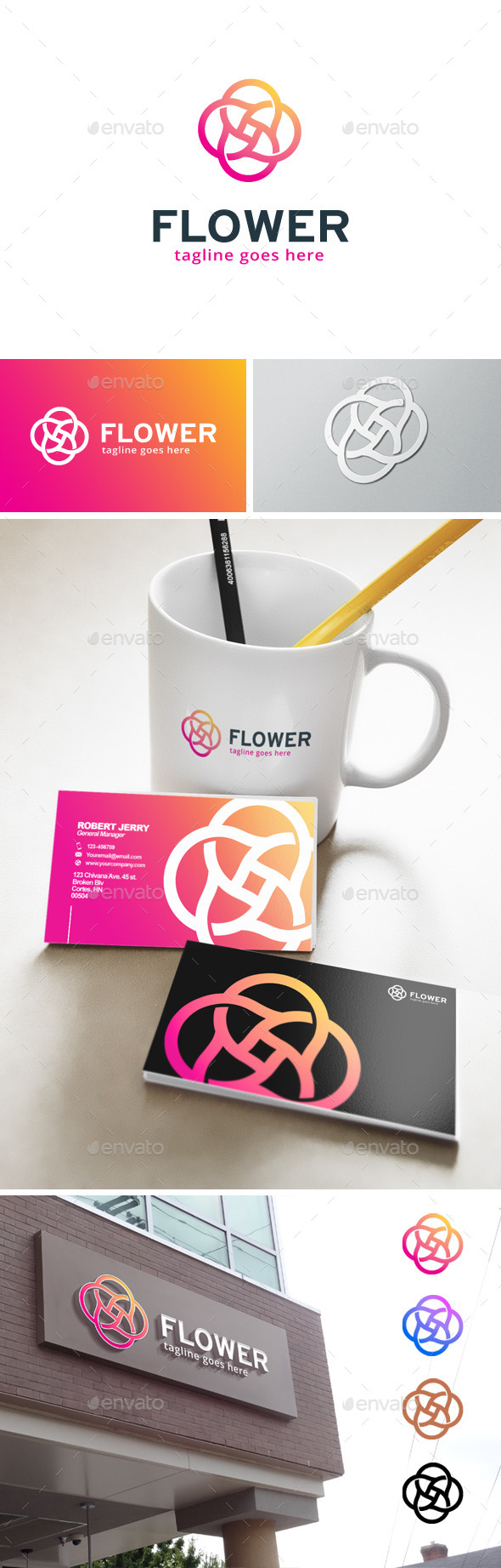 GraphicRiver Flower Circle Logo 11904936