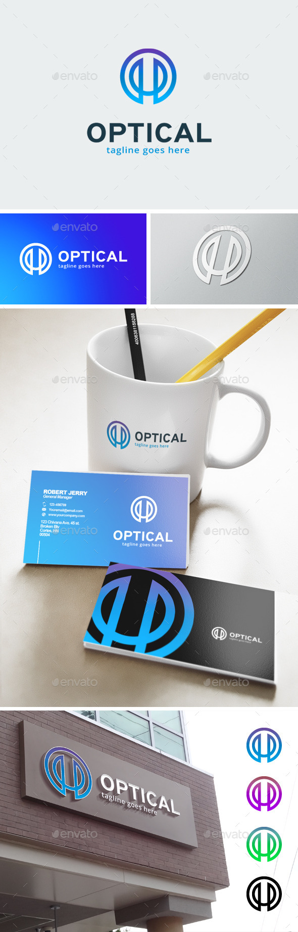 GraphicRiver Letter O Logo Optic 11904965