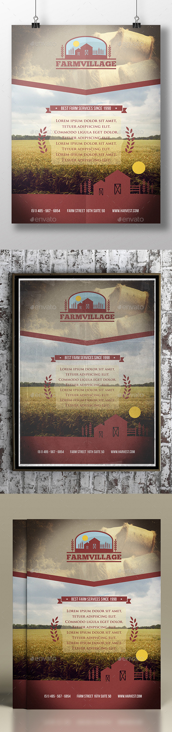 GraphicRiver Agriculture Corporate Flyer Template 11905622