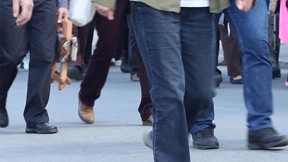 Large Density of People Walking