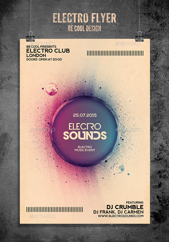GraphicRiver Electro Flyer Poster 11905993
