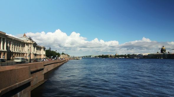 Neva River In Summer St Petersburg