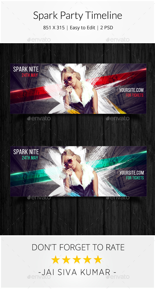 GraphicRiver Spark Party Timeline 11906346