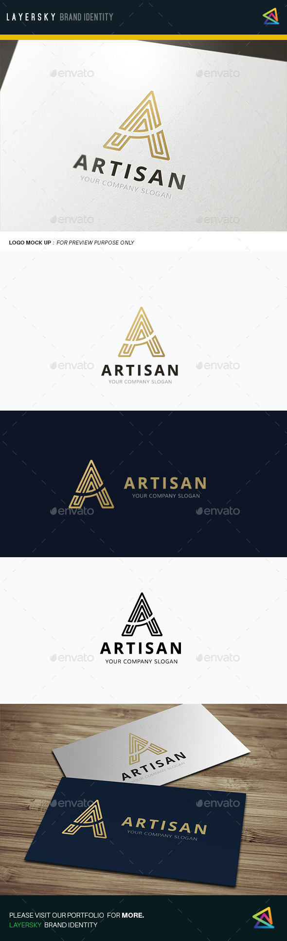GraphicRiver A Letter Artisan 11906428
