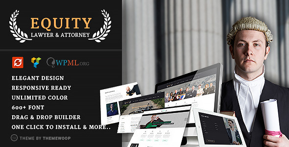 Equity – Lawyer and Attorney WordPress Theme (Business) Download
