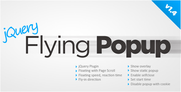CodeCanyon jQuery Flying Popup 175653
