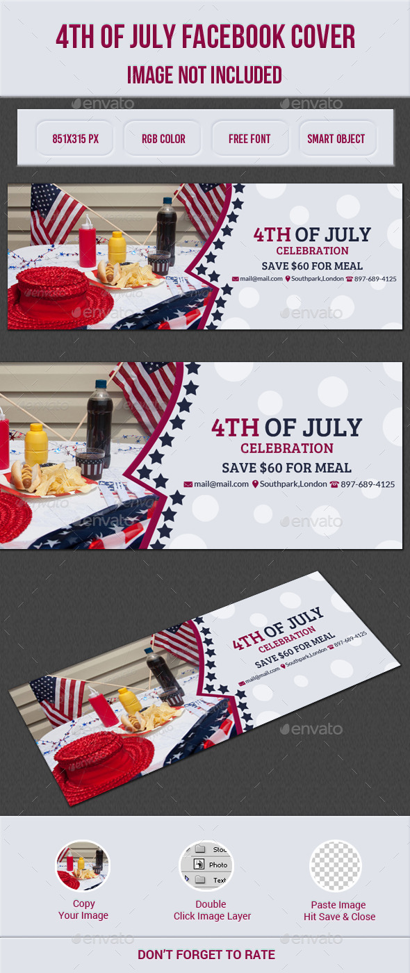 GraphicRiver 4th Of July Facebook Cover 11906756