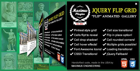 jQuery Flip Grid (Miscellaneous) Download