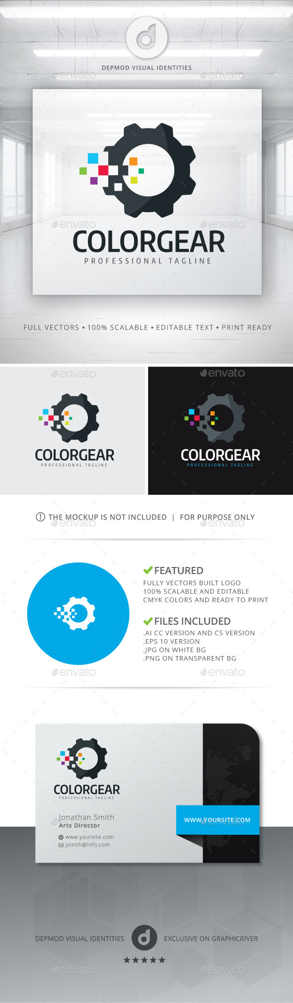 GraphicRiver Color Gear Logo 11906812