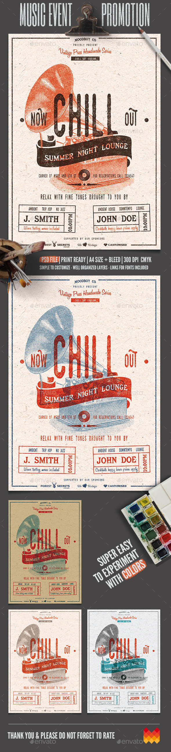 GraphicRiver Chill Out Lounge Flyer Poster 11906839