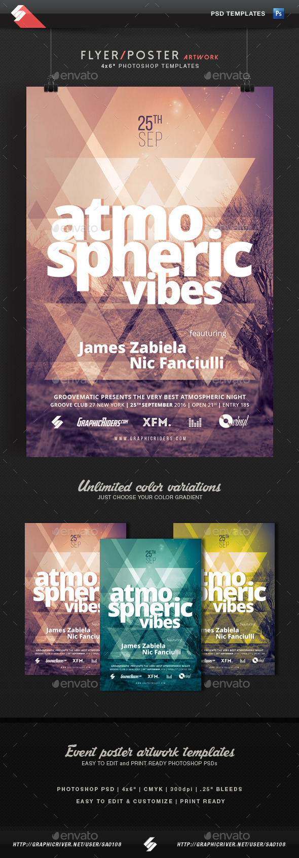 GraphicRiver Atmospheric Vibes Event Flyer Template 11906939