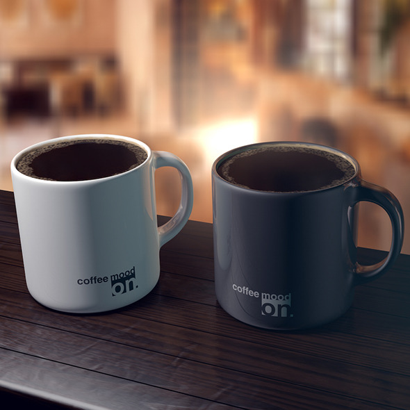 Coffee cups (scene included) - 3DOcean Item for Sale