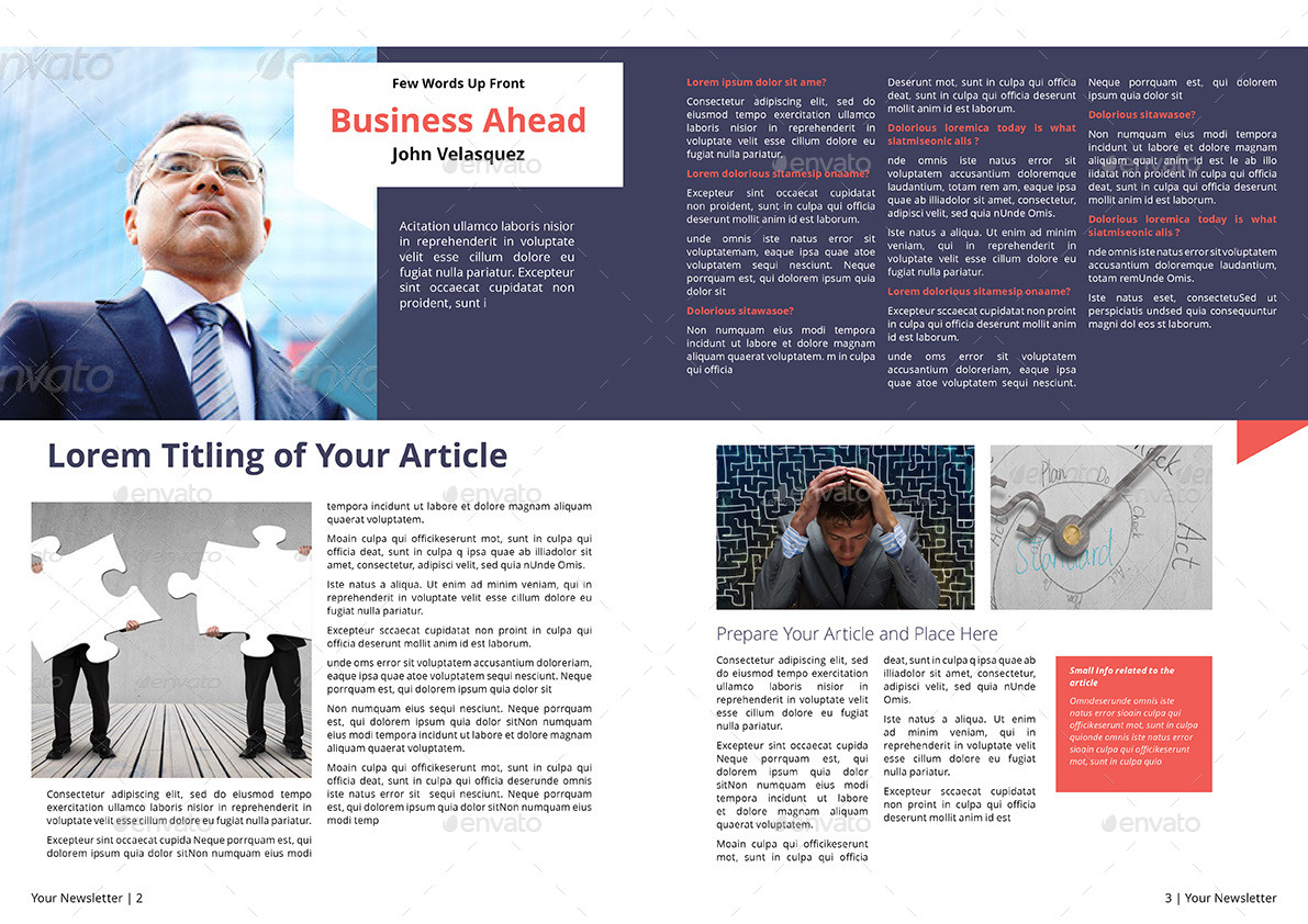 Business Newsletter A4 & Letter Size by raysource