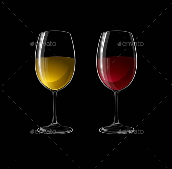 GraphicRiver Red and White Wine 11907084
