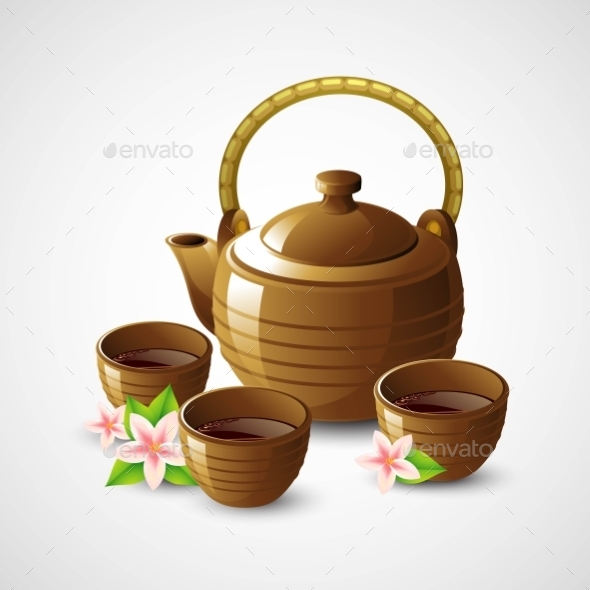GraphicRiver Teapot and Cups 11907147