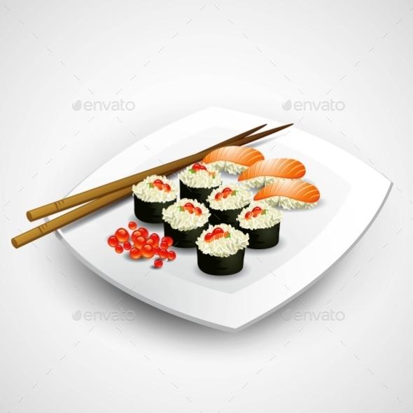 GraphicRiver Sushi Plate 11907148