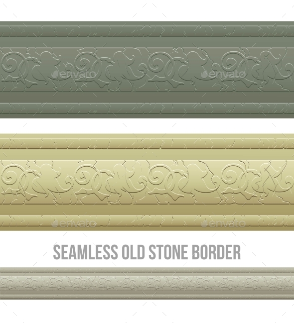GraphicRiver Set of Seamless Borders Stone Marble 11907149