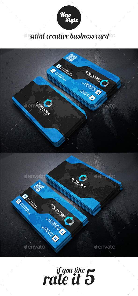 GraphicRiver Sitial Creative Business Card Template 11907191