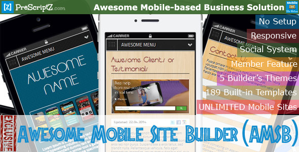 CodeCanyon Awesome Mobile Site Builder AMSB 7894298
