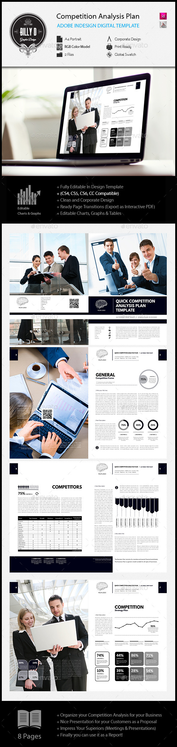 GraphicRiver Competition Analysis Plan Digital Template 11907477