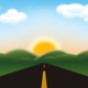 Download Vector Road to Mountains