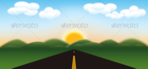 GraphicRiver Road to Mountains 48267