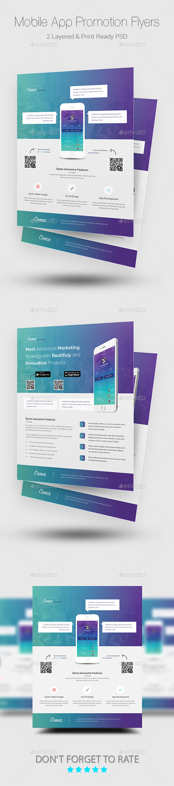 GraphicRiver Mobile App Promotion Flyer Templates 11907622