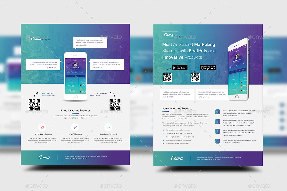 Mobile App Promotion Flyer Templates by rtralrayhan – Promotional Flyer Template