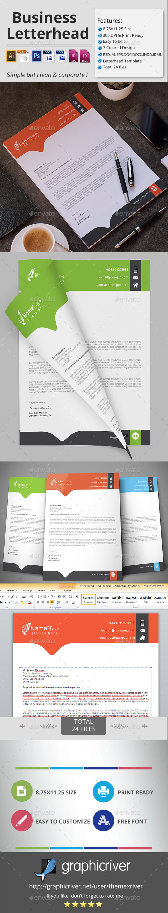 GraphicRiver Business Letterhead 11908507