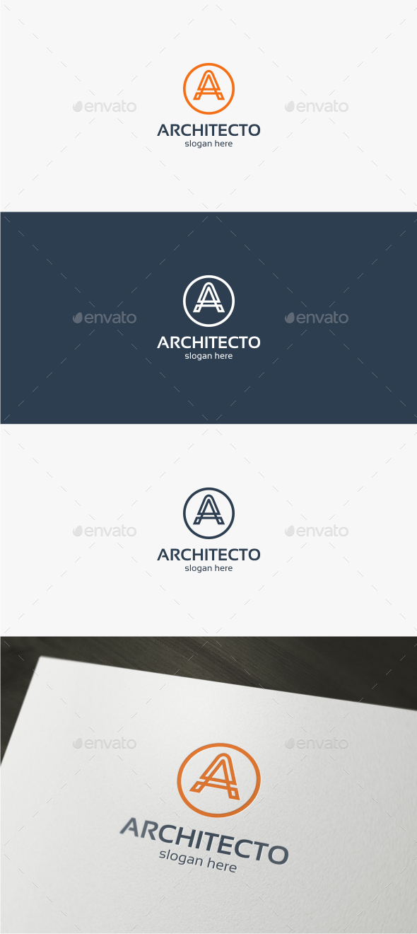GraphicRiver Architecto Letter A Logo Template 11908534