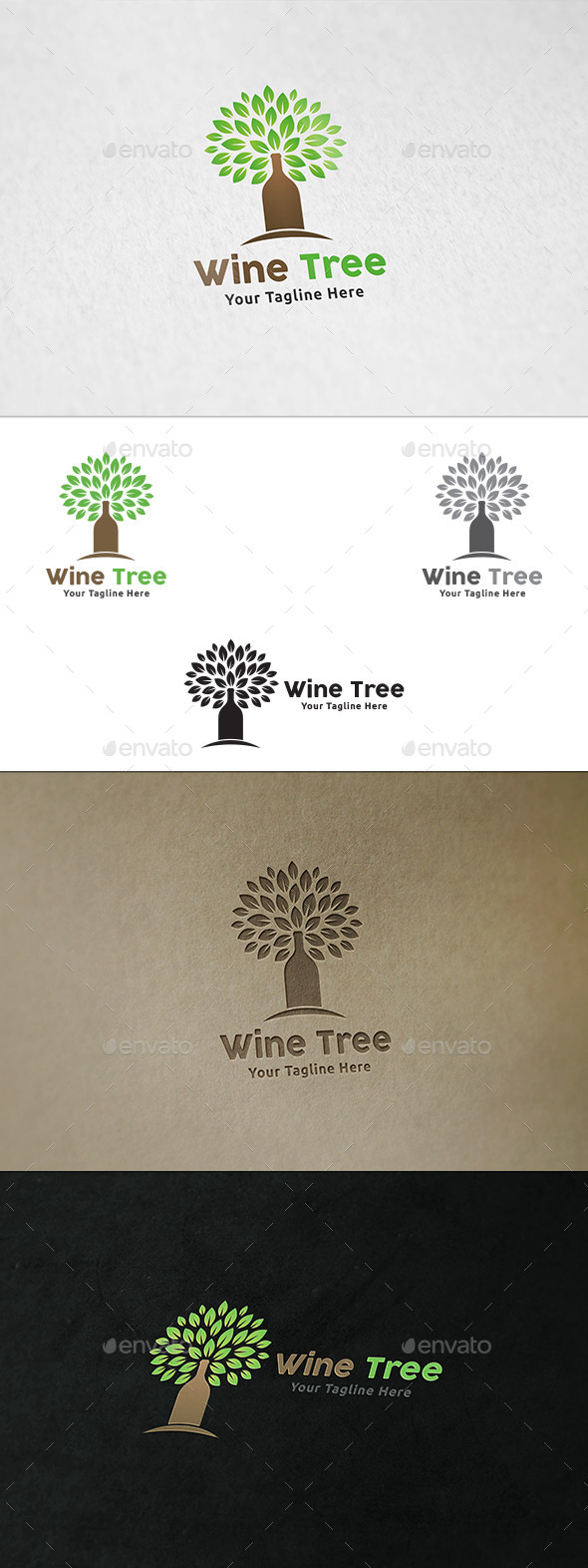 GraphicRiver Wine Tree Logo Template 11908544