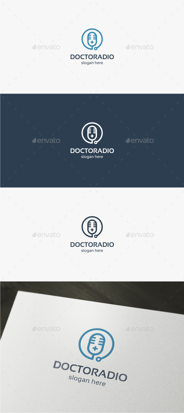 GraphicRiver Doctor Radio Logo Template 11908547
