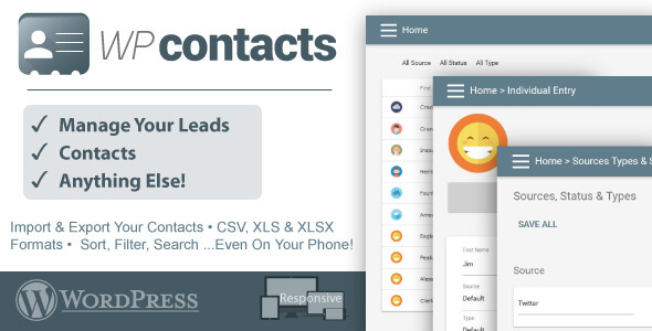 CodeCanyon WP Contacts Contact Management Plugin 11871172
