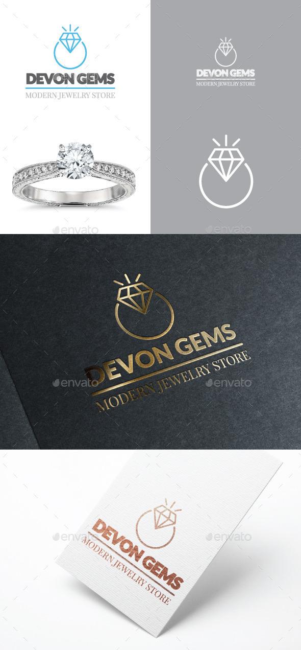 GraphicRiver Diamond Jewelry Ring Vector Logo 11907087