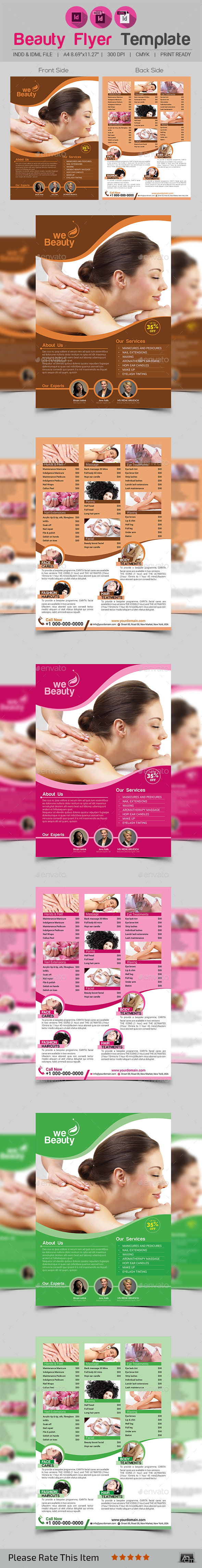 GraphicRiver Beauty Flyer Template 11908831