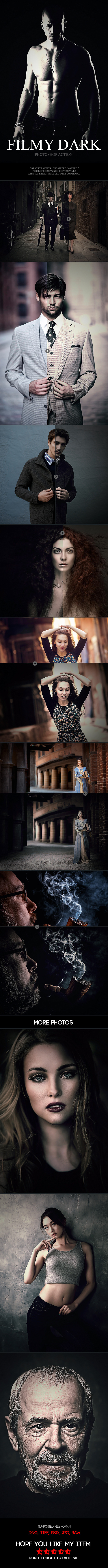 GraphicRiver Filmy Dark Photoshop Action 11908922