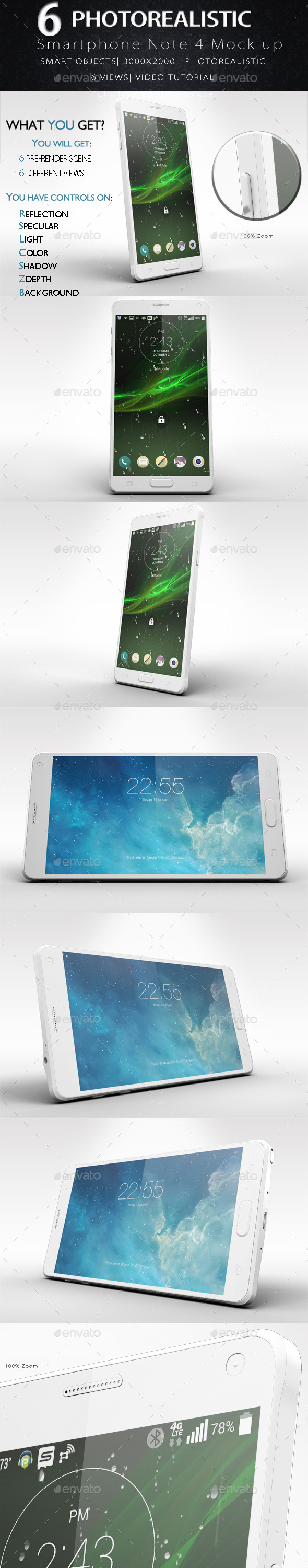 GraphicRiver Galaxy Note 4 Smartphone Mock Up Vol.2 11909012