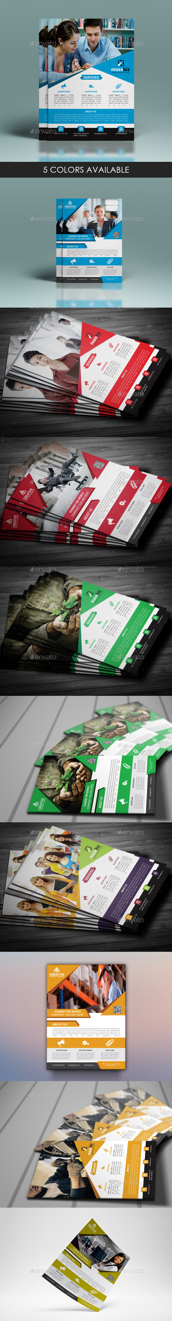 GraphicRiver Corporate Flyer Bundle 11909229