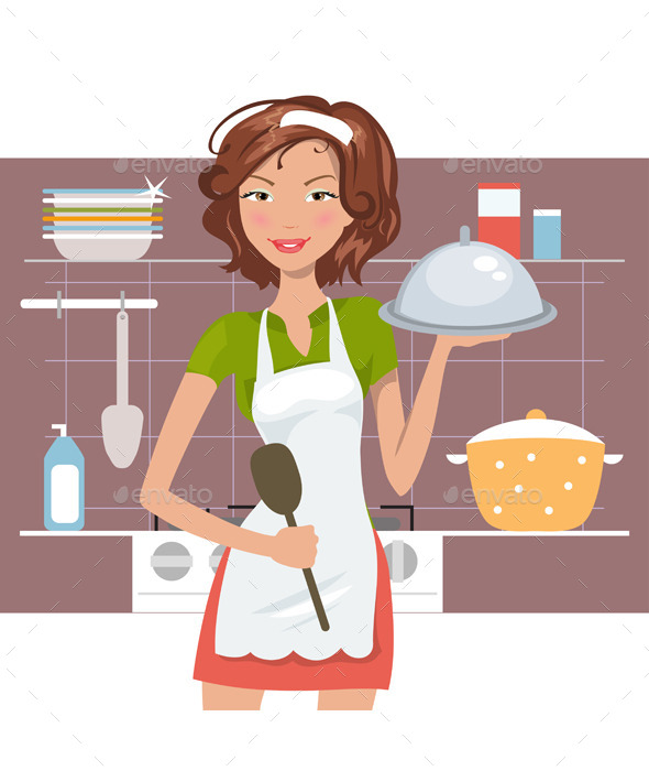 GraphicRiver Woman Chef 11909237
