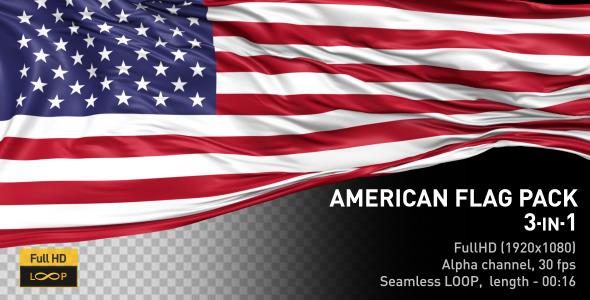 VideoHive American Flag Pack 11909321