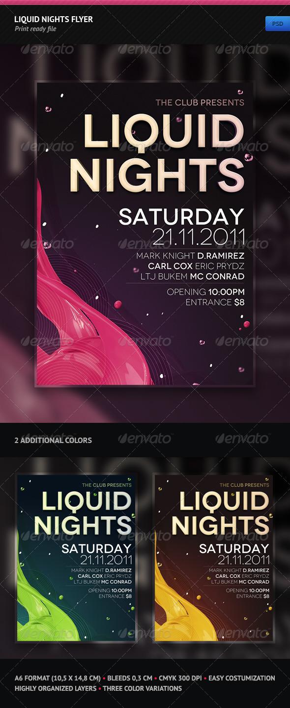 GraphicRiver Liquid Nights Flyer 1195790