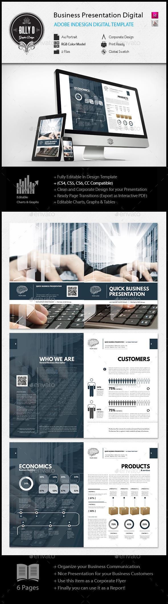 GraphicRiver Business Presentation Digital Template 11909532